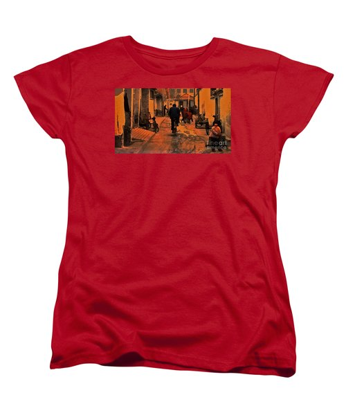 Women's T-Shirt (Standard Cut) featuring the photograph The Neighborhood by Lydia Holly