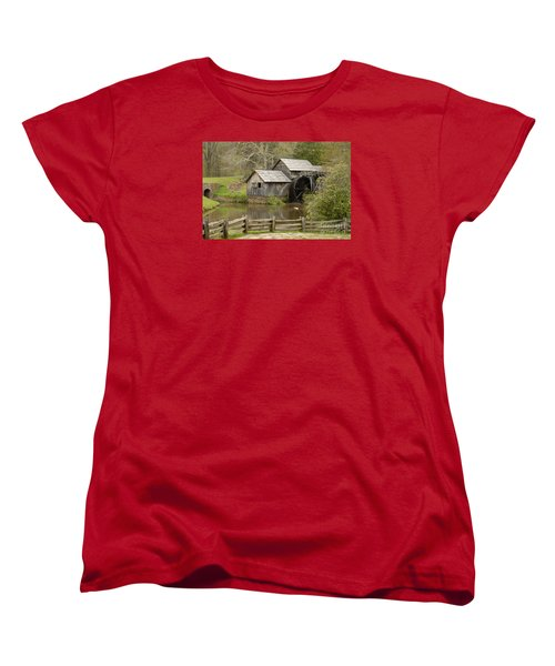 The Old Grist Mill Women's T-Shirt (Standard Cut) by Cindy Manero