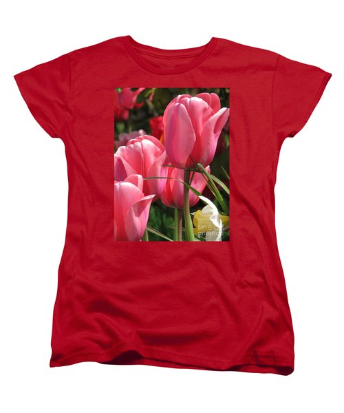 Women's T-Shirt (Standard Cut) featuring the photograph There Is Pink In Heaven by Rory Sagner