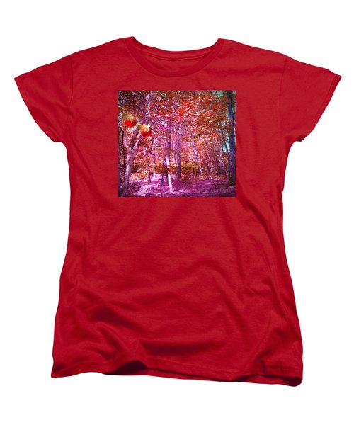 Women's T-Shirt (Standard Cut) featuring the photograph Thicket In Color by George Pedro