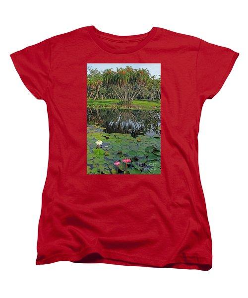 Women's T-Shirt (Standard Cut) featuring the photograph Tropical Splendor by Larry Nieland