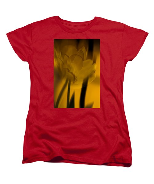Women's T-Shirt (Standard Cut) featuring the photograph Tulip Abstract by Ed Gleichman