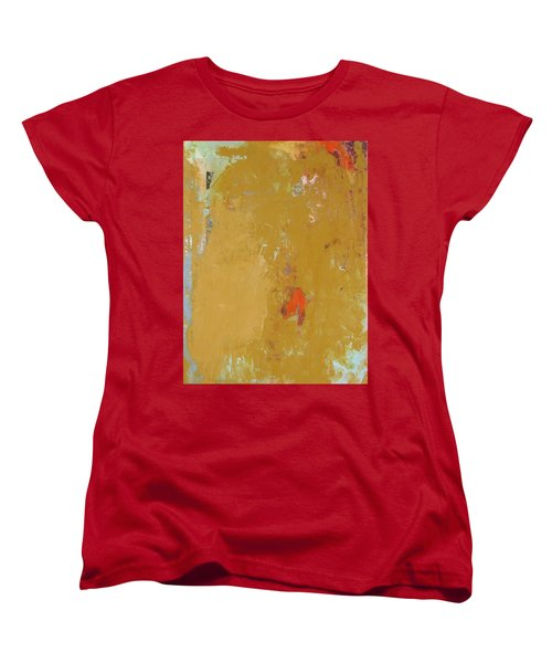 Untitled Abstract - Ochre Cinnabar Women's T-Shirt (Standard Cut) by Kathleen Grace