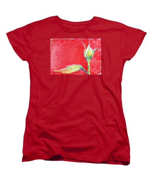 White Rosebud Women's T-Shirt (Standard Cut)