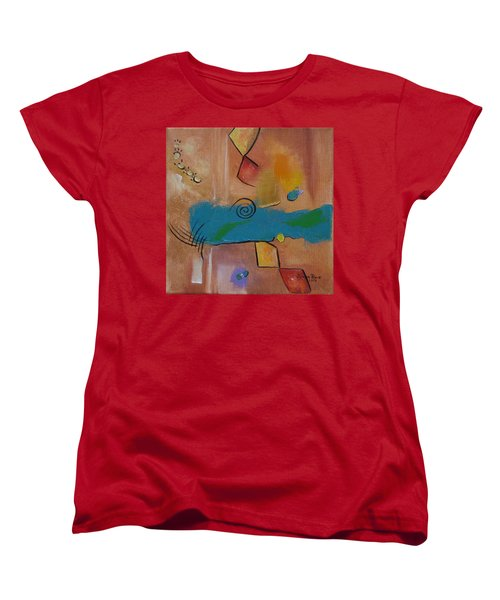 Women's T-Shirt (Standard Cut) featuring the painting Wild Wild West by Judith Rhue