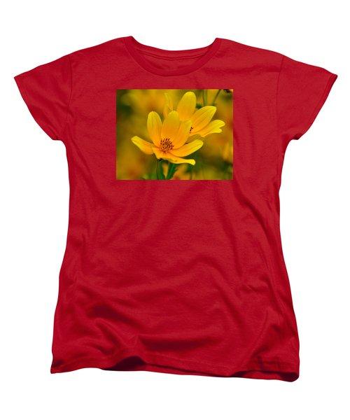 Women's T-Shirt (Standard Cut) featuring the photograph Yellow Blaze by Marty Koch