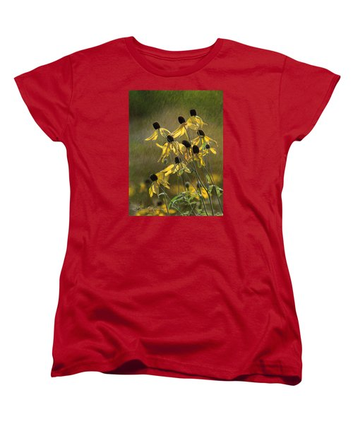 Yellow Coneflowers Women's T-Shirt (Standard Cut) by Bruce Morrison