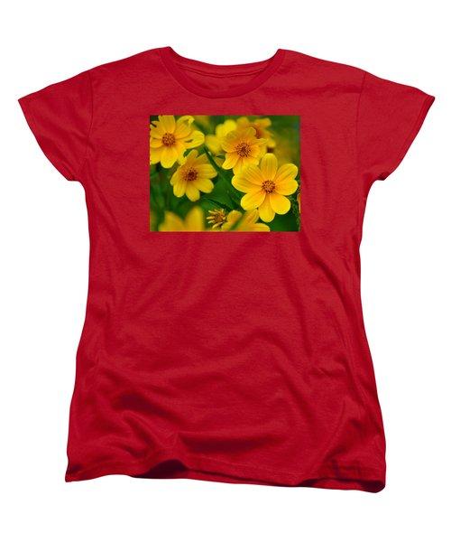 Women's T-Shirt (Standard Cut) featuring the photograph Yellow Flowers by Marty Koch