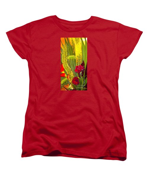 Artistic Floral Arrangement Women's T-Shirt (Standard Cut) by Merton Allen