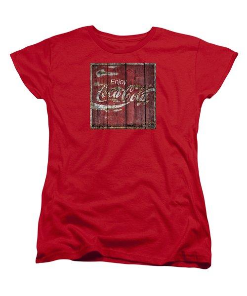 Coca Cola Sign Barn Wood Women's T-Shirt (Standard Cut)