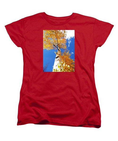 Women's T-Shirt (Standard Cut) featuring the photograph  The Aspen Crown Dixie National Forest Utah by Deborah Moen