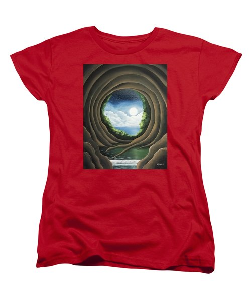 Women's T-Shirt (Standard Cut) featuring the painting After The Storm by Edwin Alverio