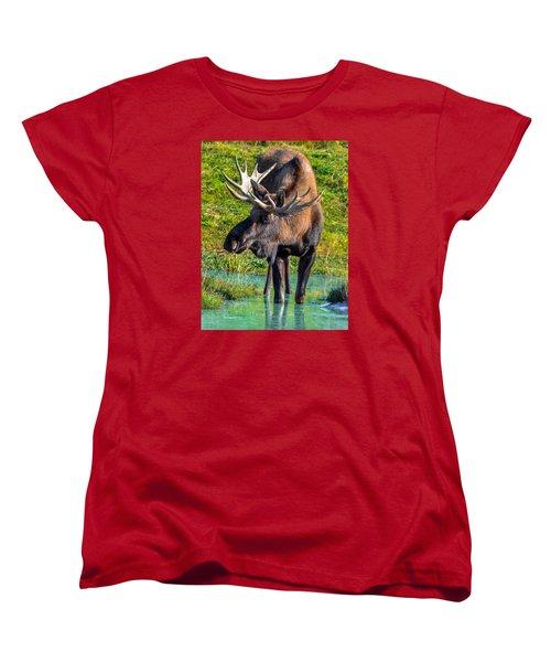 Alaska Moose 5 Women's T-Shirt (Standard Cut) by Brian Stevens