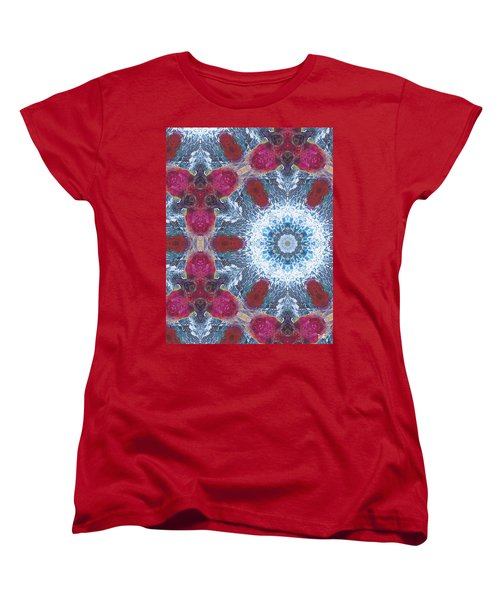 Arctic Blossom Women's T-Shirt (Standard Cut) by Maria Watt