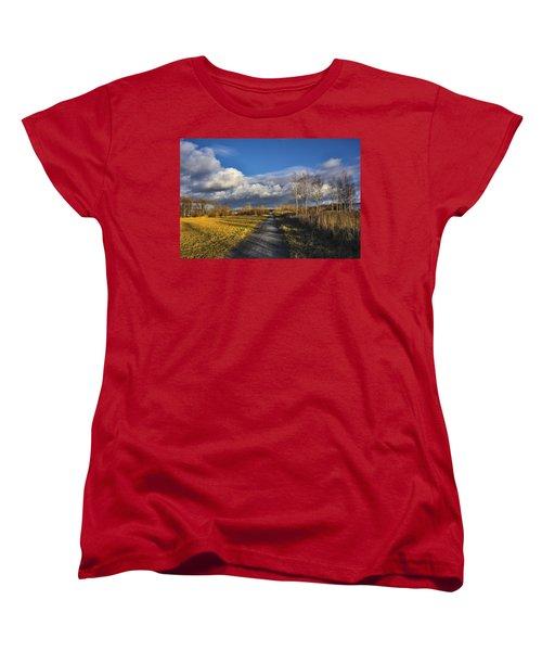 Women's T-Shirt (Standard Cut) featuring the photograph Autumn Evening by Vladimir Kholostykh