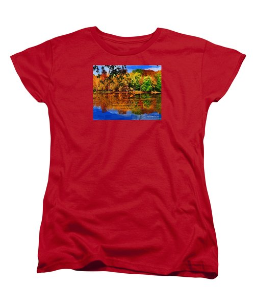 Autumn Serenity Painted Women's T-Shirt (Standard Cut) by Diane E Berry