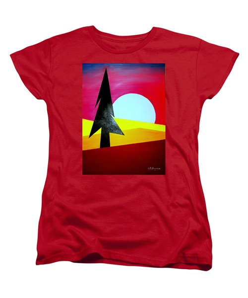 Big Bad Moon Rising Women's T-Shirt (Standard Cut) by J R Seymour