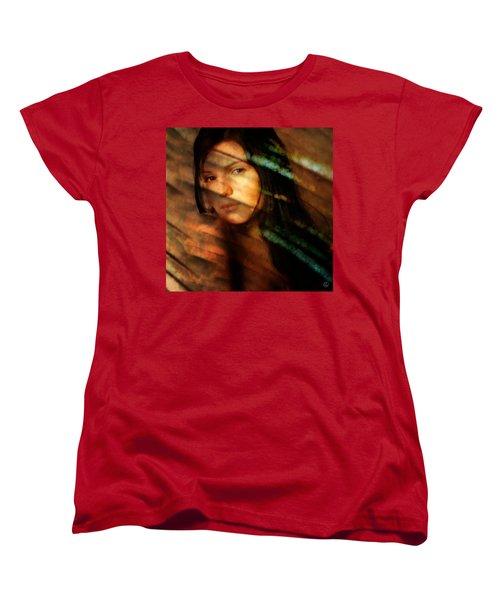Women's T-Shirt (Standard Cut) featuring the digital art Behind The Curtain by Gun Legler