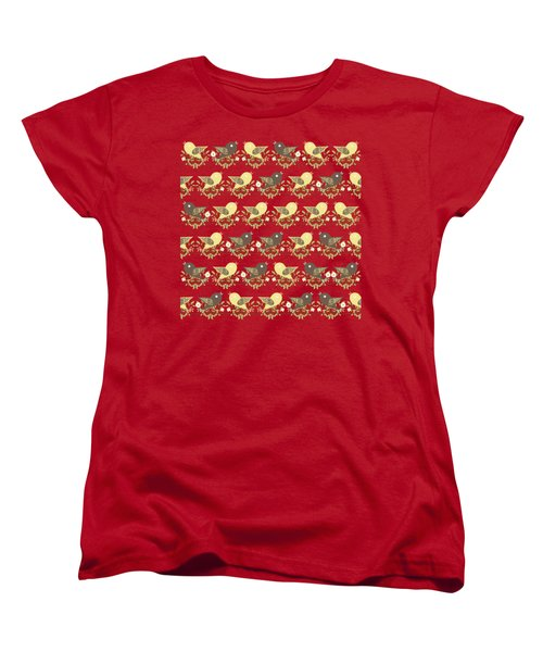 Birds Pattern Women's T-Shirt (Standard Fit)