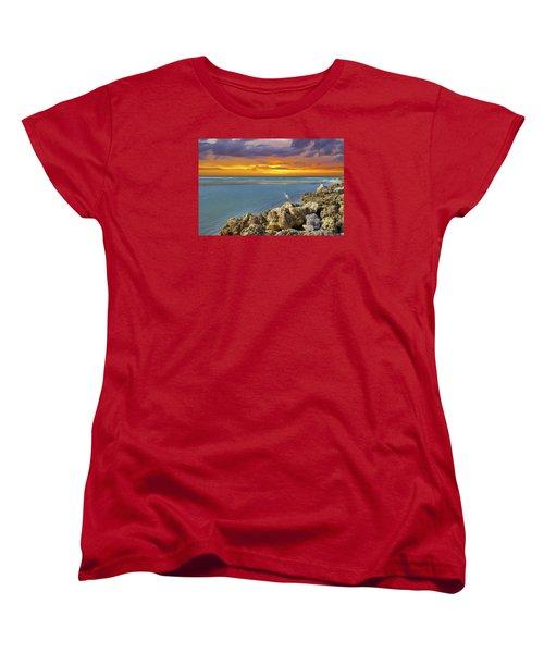 Blind Pass Sunset Women's T-Shirt (Standard Cut) by Sean Allen