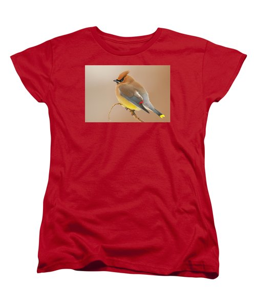 Cedar Wax Wing Women's T-Shirt (Standard Cut) by Carl Shaw