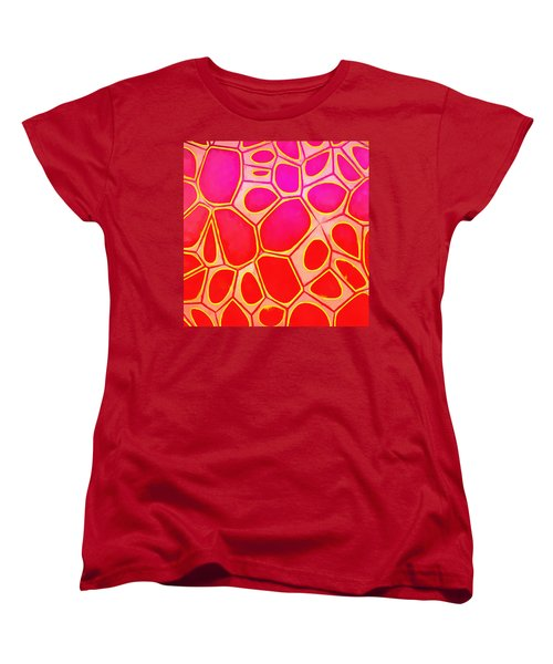 Cells Abstract Three Women's T-Shirt (Standard Cut) by Edward Fielding