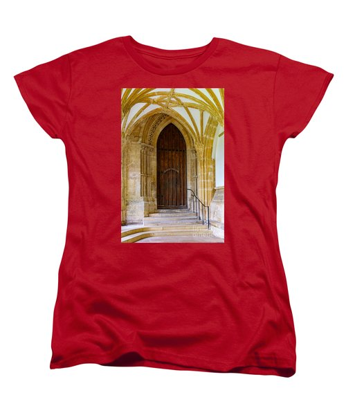 Cloisters, Wells Cathedral Women's T-Shirt (Standard Cut) by Colin Rayner