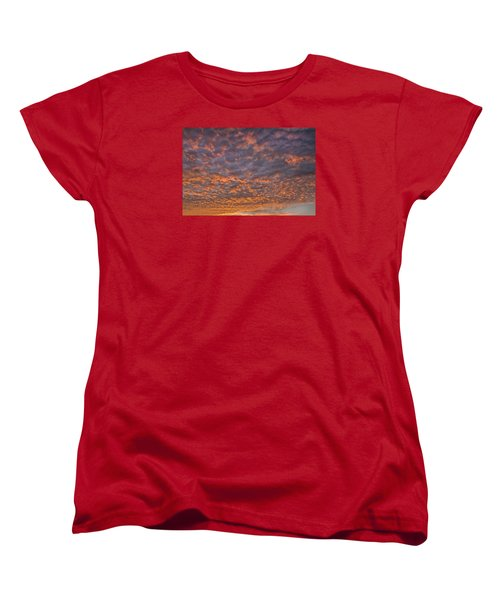 Colorful Women's T-Shirt (Standard Cut) by Wanda Krack