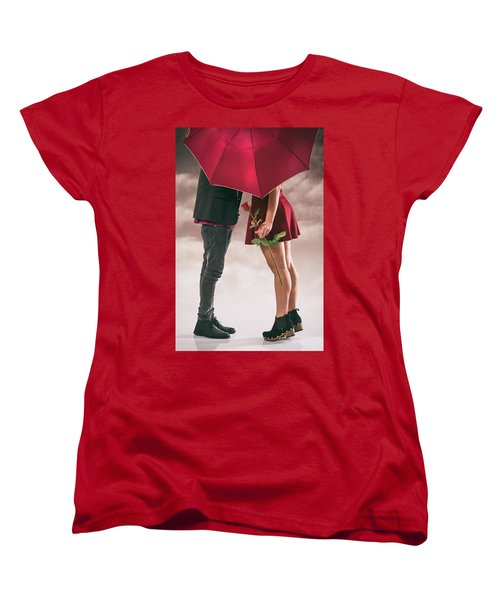Women's T-Shirt (Standard Cut) featuring the photograph Couple Of Sweethearts by Carlos Caetano