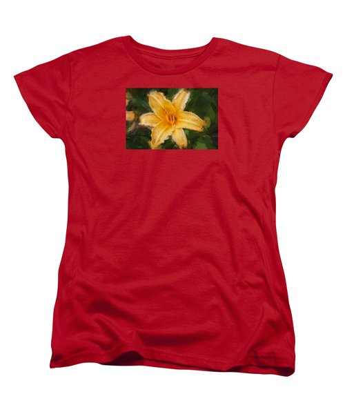 Daylily Hemerocallis Stella De Oro  Women's T-Shirt (Standard Cut) by Rich Franco