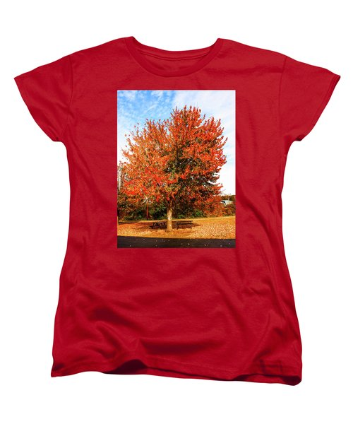 Women's T-Shirt (Standard Cut) featuring the photograph Fall Time by Randy Sylvia