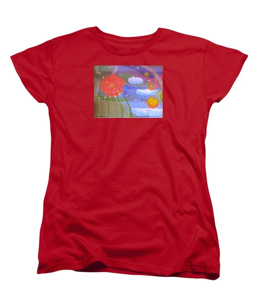 Women's T-Shirt (Standard Cut) featuring the drawing Fantasy Garden by Rod Ismay