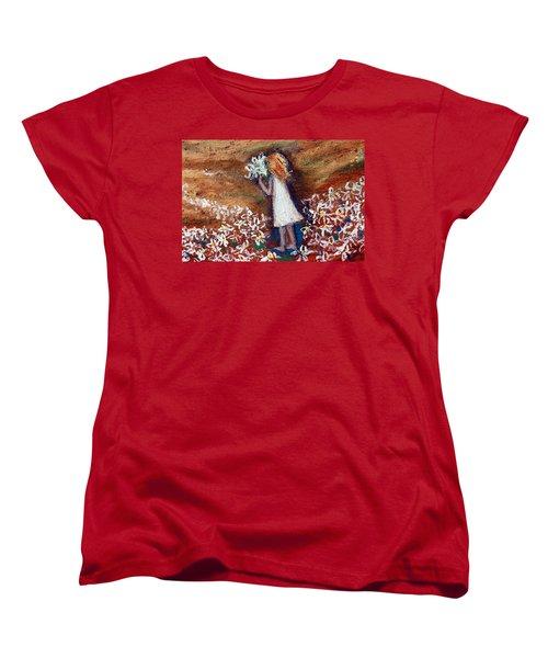 Field Of Flowers Women's T-Shirt (Standard Cut) by Winsome Gunning