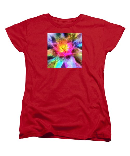 Women's T-Shirt (Standard Cut) featuring the photograph Floral Mandala 01 by Jack Torcello