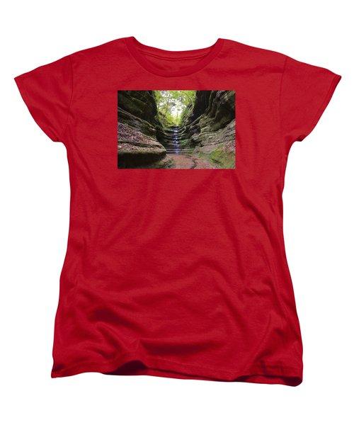 French Canyon Women's T-Shirt (Standard Cut) by Bruce Bley