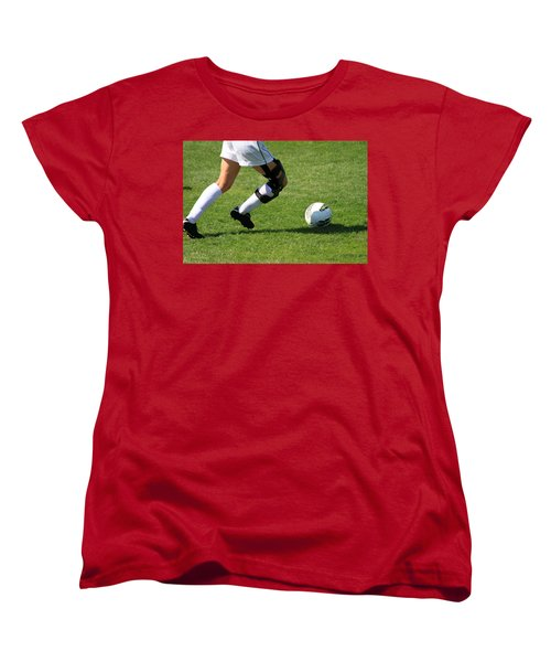 Futbol Women's T-Shirt (Standard Cut) by Laddie Halupa