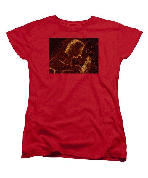 Guitar Player Women's T-Shirt (Standard Cut) by Alex Galkin