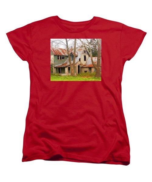 Haunted House Women's T-Shirt (Standard Cut) by Marty Koch