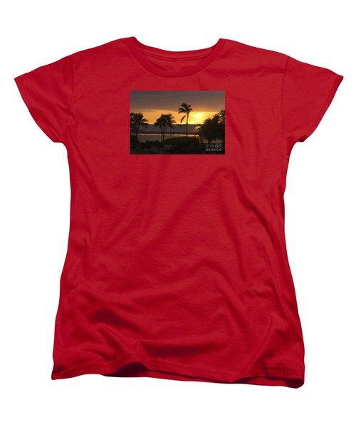 Hawaiian Sunset Women's T-Shirt (Standard Cut) by Loriannah Hespe