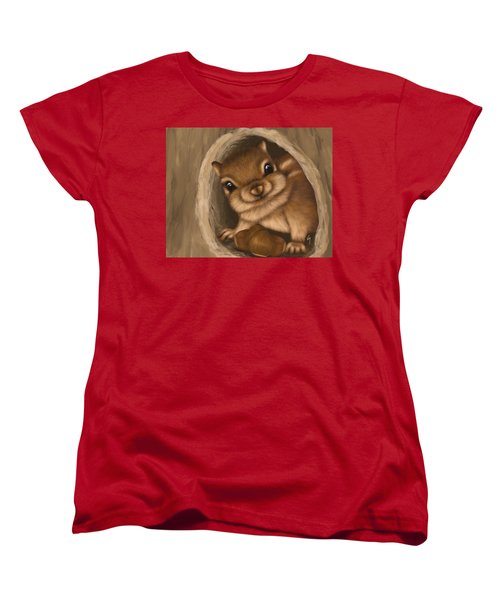 Women's T-Shirt (Standard Cut) featuring the painting Hello by Veronica Minozzi