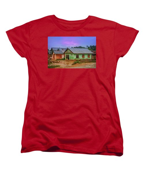 Women's T-Shirt (Standard Cut) featuring the photograph Houses by Charuhas Images