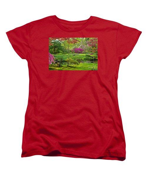 Japanese Garden Women's T-Shirt (Standard Cut) by Anastasy Yarmolovich