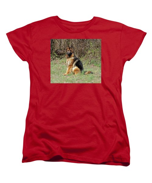Women's T-Shirt (Standard Cut) featuring the photograph Jessy by Sandy Keeton