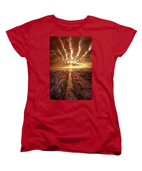 Women's T-Shirt (Standard Cut) featuring the photograph Just Over The Horizon by Phil Koch