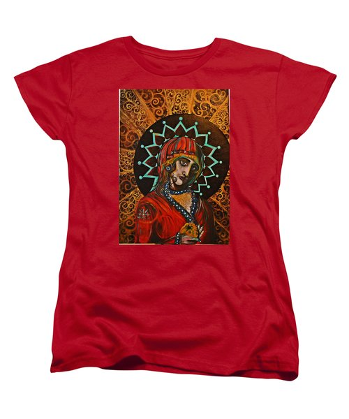 Women's T-Shirt (Standard Cut) featuring the painting Lady Of Spades by Sandro Ramani