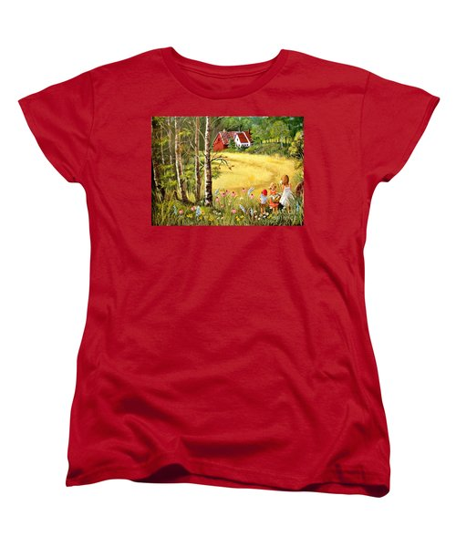 Memories For Mom Women's T-Shirt (Standard Cut) by Marilyn Smith