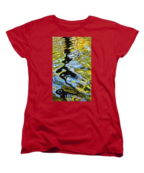 Mill Pond Reflection Women's T-Shirt (Standard Cut) by Tom Cameron