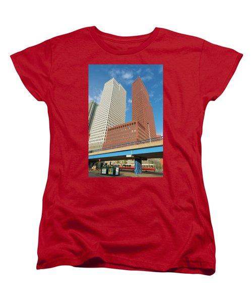 Modern Skyscrapers Women's T-Shirt (Standard Cut) by Hans Engbers