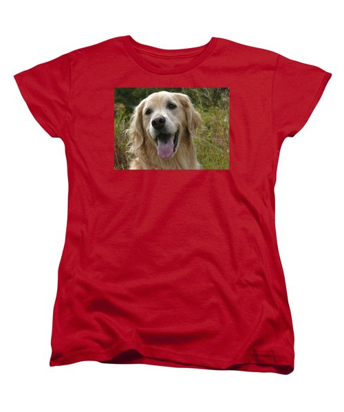 Women's T-Shirt (Standard Cut) featuring the photograph Morgie by Rhonda McDougall