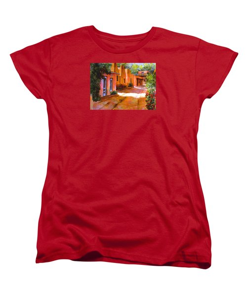 Women's T-Shirt (Standard Cut) featuring the painting Near Canyon Road by Ann Peck